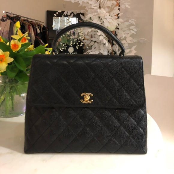 370fad36ba10 CHANEL Bags | Auth Classic Quilted Black Caviar Kelly Bag | Poshmark
